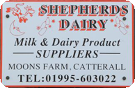 shepherds dairy sign